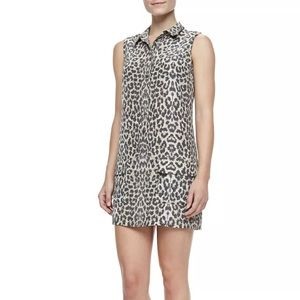Equipment Silk Sleeveless Leopard Print Dress